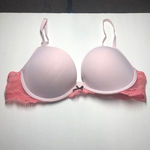 Aerie pink lace bra size 36B